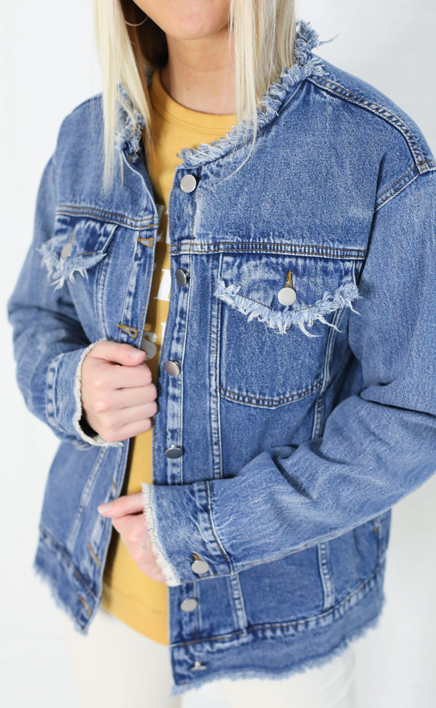 brooklyn distressed denim jacket