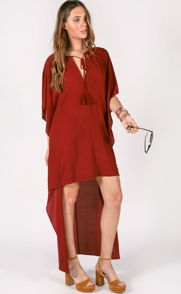 buddy love: derby dress - wine