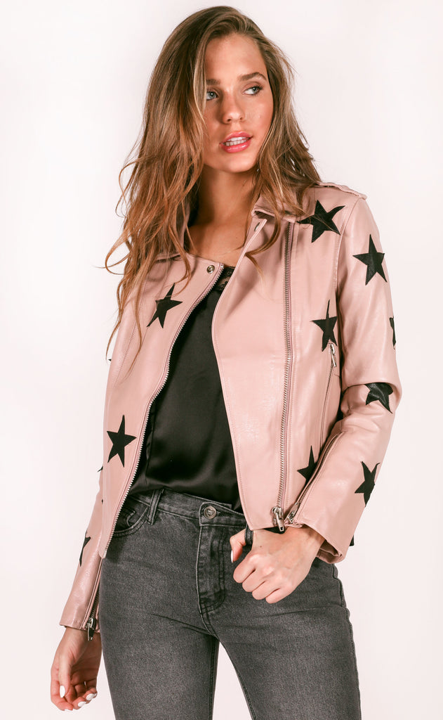 buddy love: joplin jacket - blush