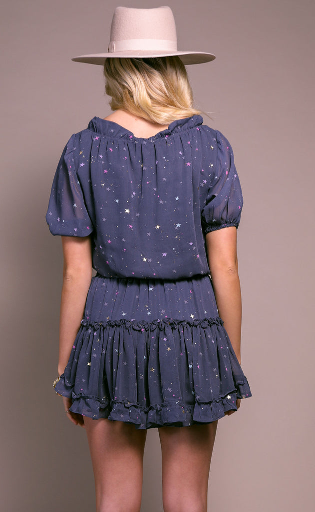buddy love: ray dress - glitter galaxy