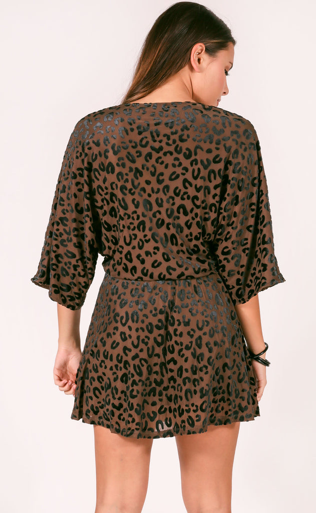 buddy love: whitney mini dress - leopard