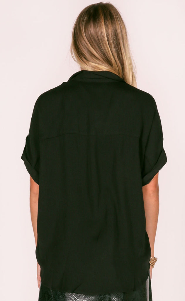 business as usual button up top - black