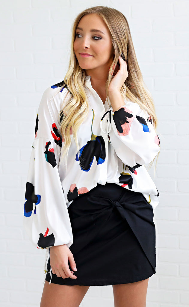 button up to get down printed top