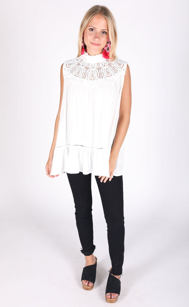 by the seashore lace top
