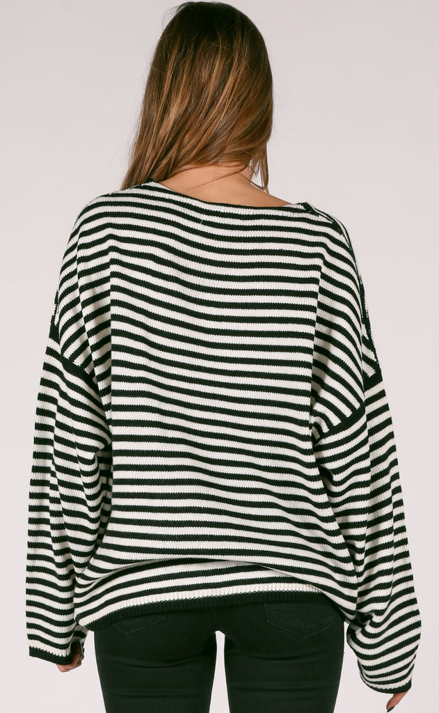 hit the road striped sweater