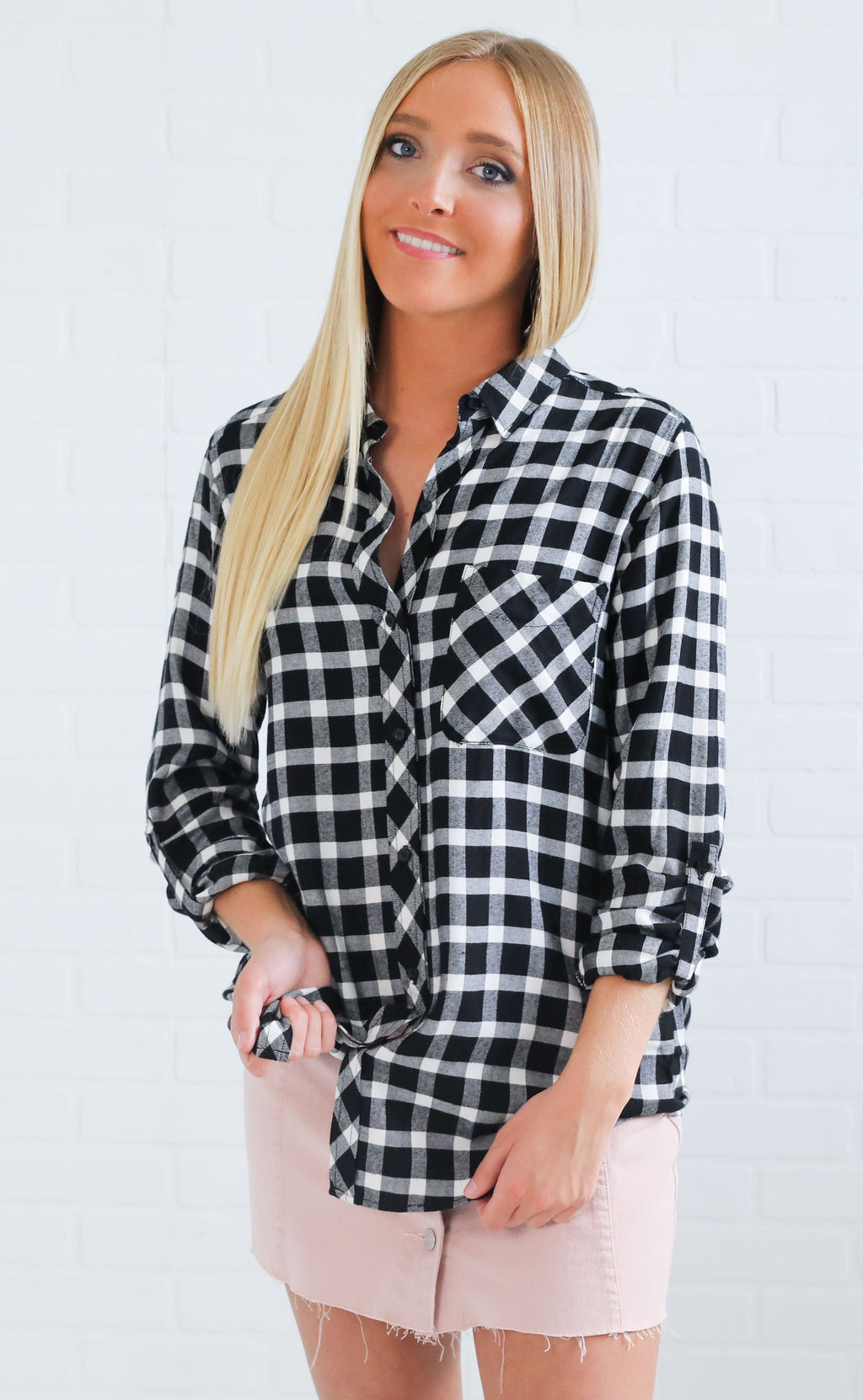 campfire stories plaid top