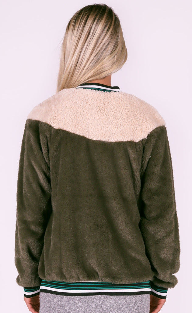 campfire cozy fur jacket