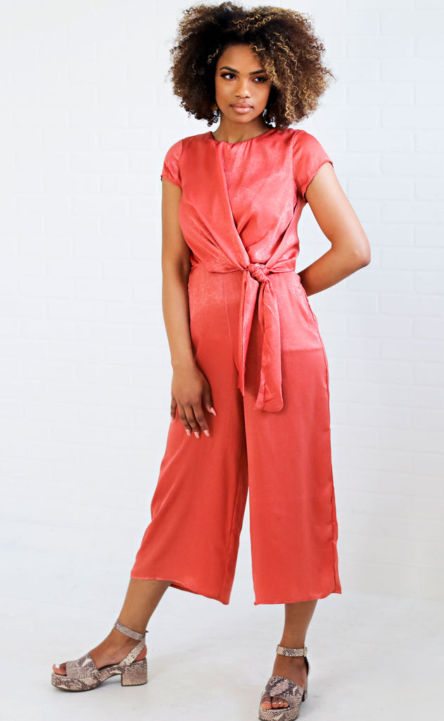 can you knot jumpsuit - coral