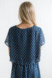 show me your mumu: candice crop - stardust dot deep marine