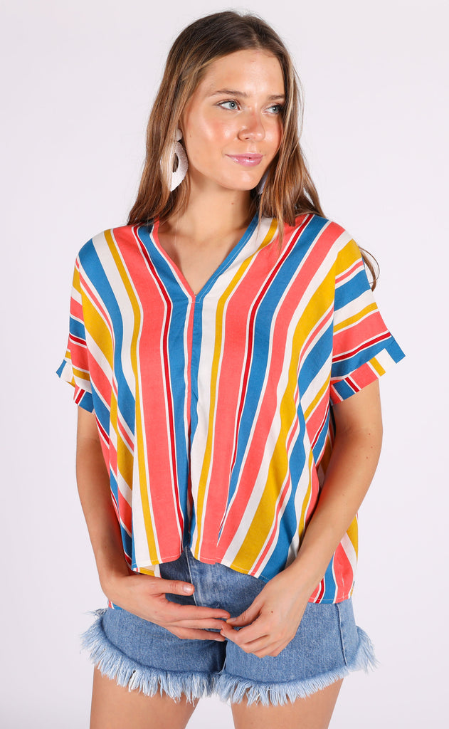 candyland striped top