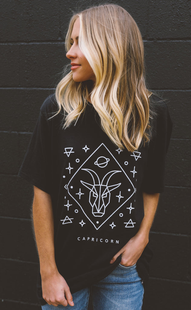friday + saturday: zodiac t shirt - capricorn