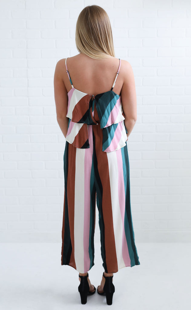 carousel striped  jumpsuit
