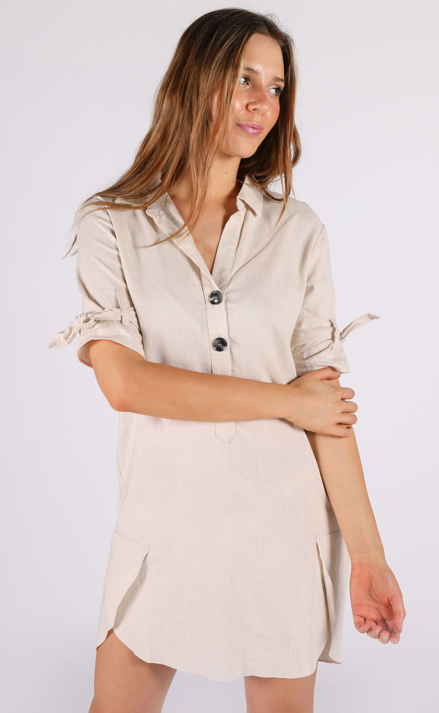 casual chic button up dress