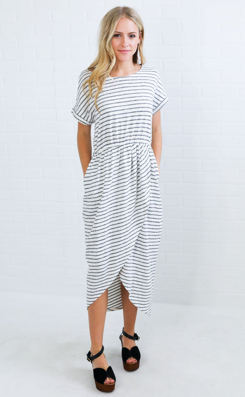 casual chic striped dress