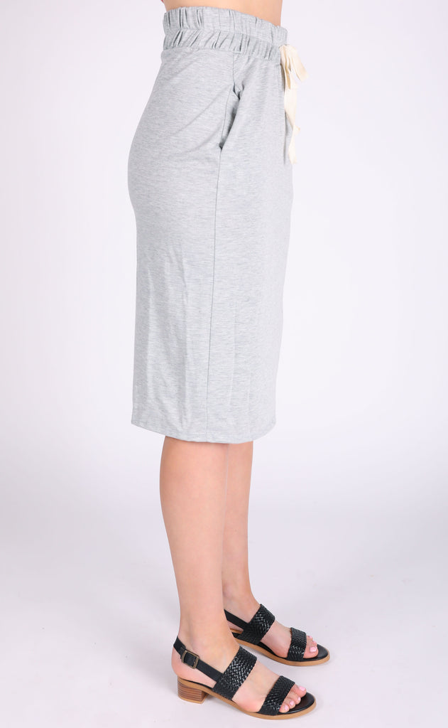 casual cool midi skirt - grey