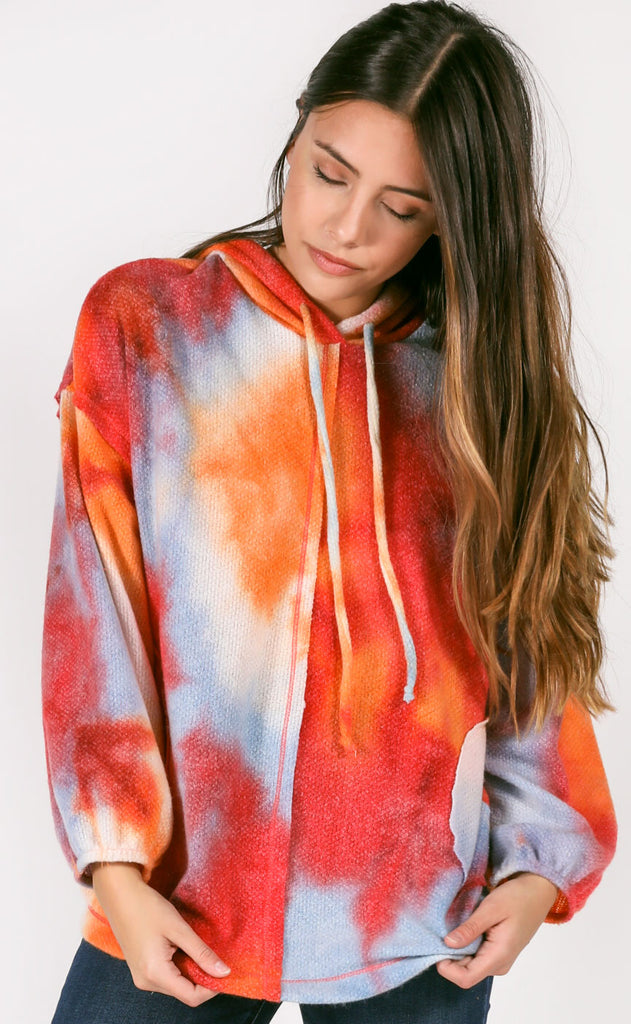 casual cool tie dye pullover