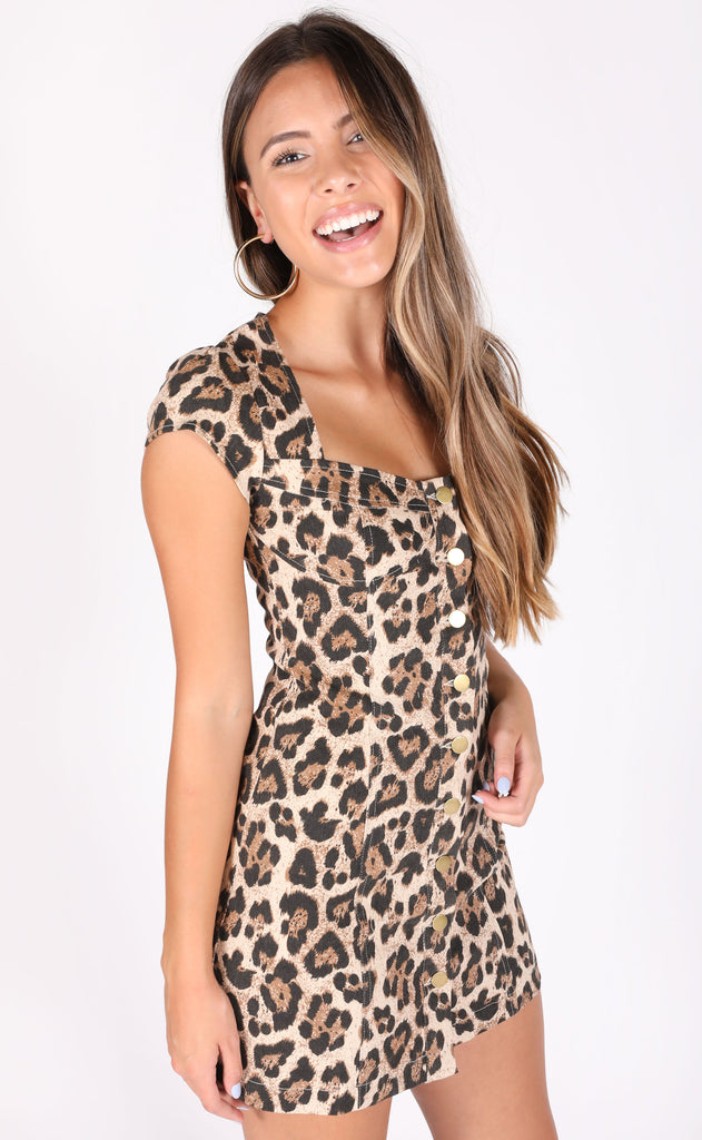 cat's meow leopard dress