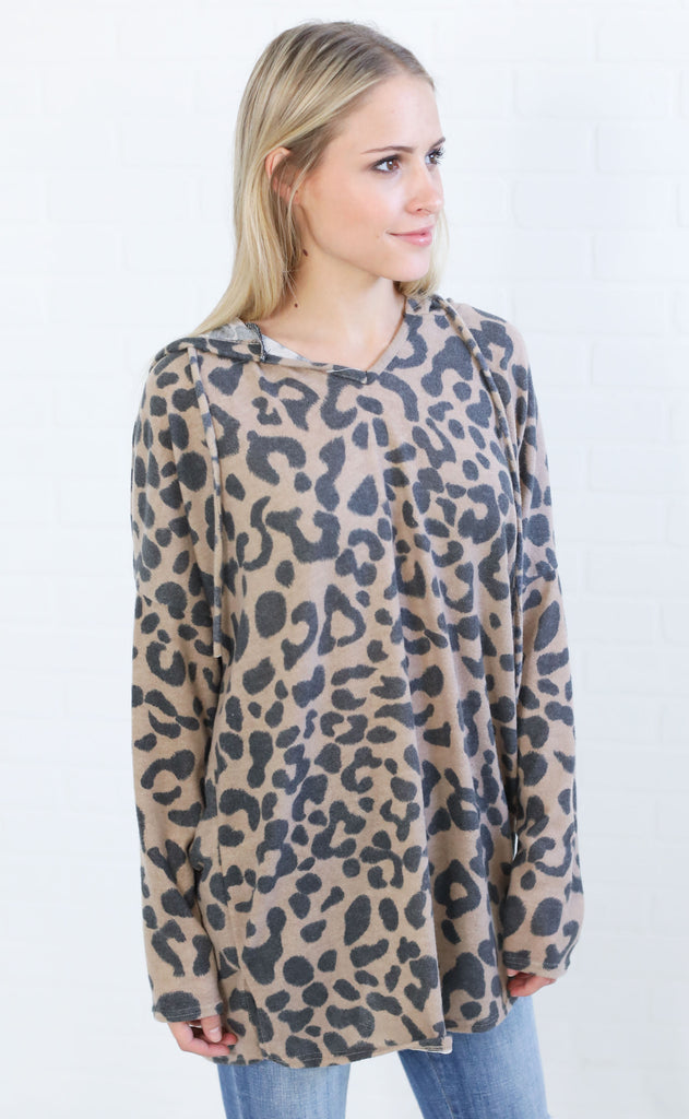 cat's meow oversized pullover