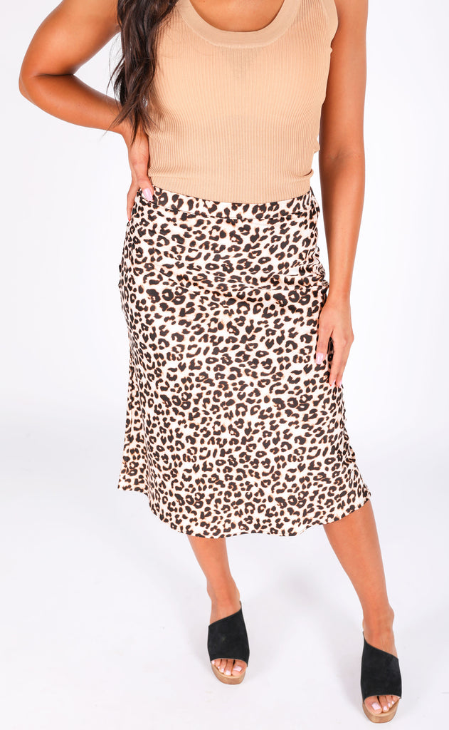 cat's meow satin skirt