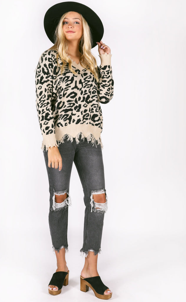 catwalk knit sweater - black spot