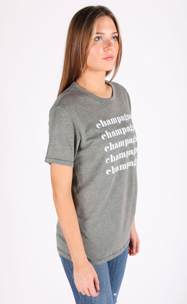 friday + saturday: champagne x5 t shirt (PRE-ORDER)