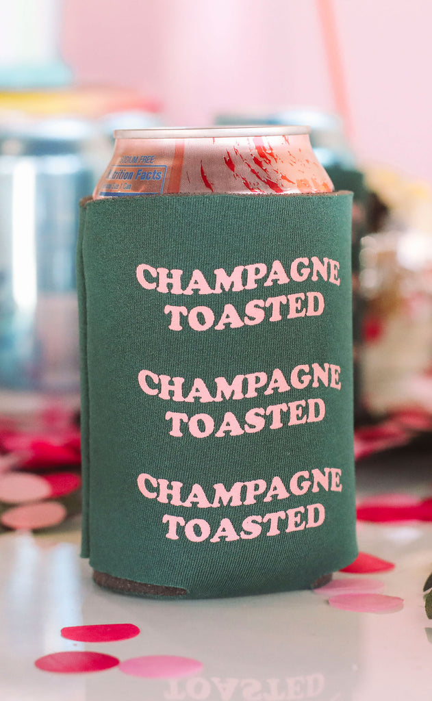 friday + saturday: champagne toasted koozie