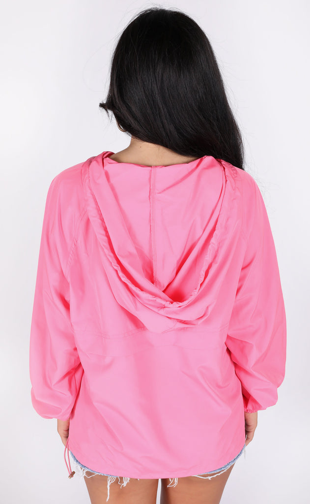 chance of rain pullover jacket - hot pink