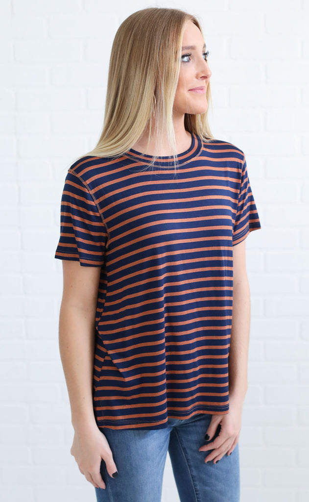 change of season striped top - navy