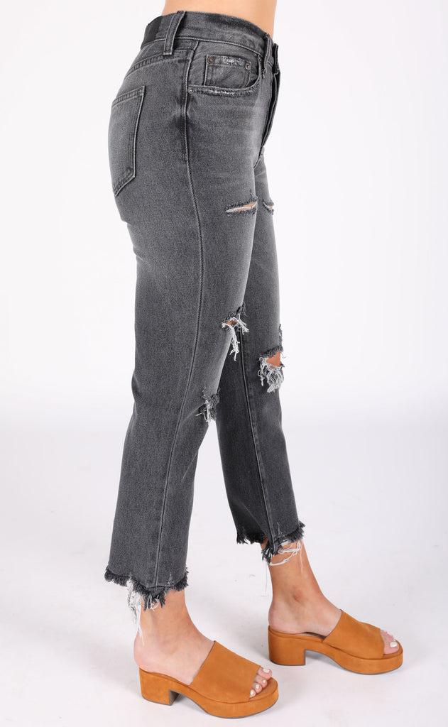 charlie high rise straight leg jeans - stereo