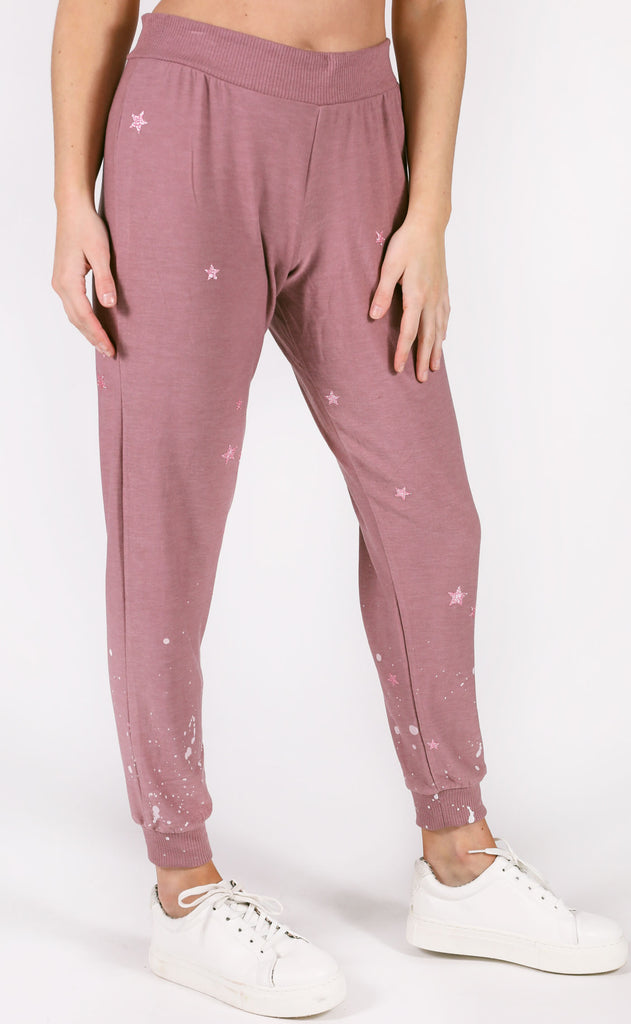 chaser: slouchy joggers - pinky stars
