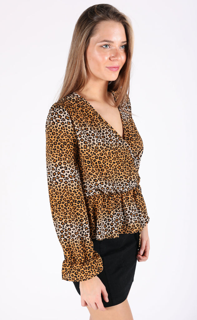 cheetah girl printed top