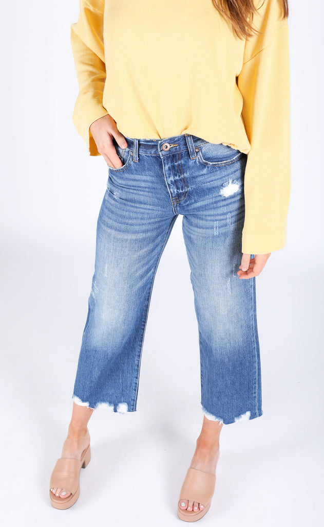 cher high rise wide leg jeans