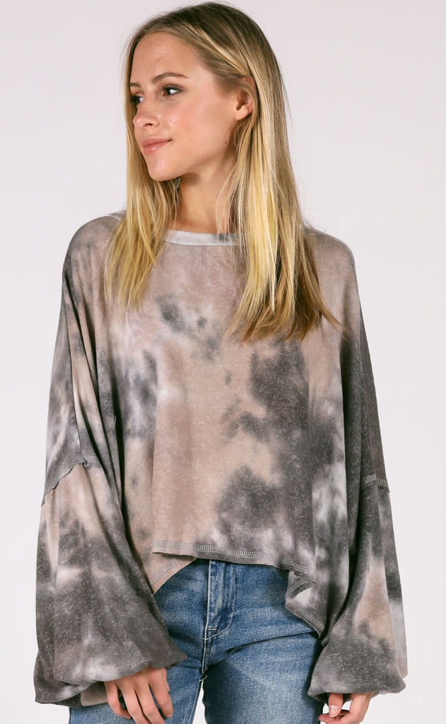 chill out tie dye pullover