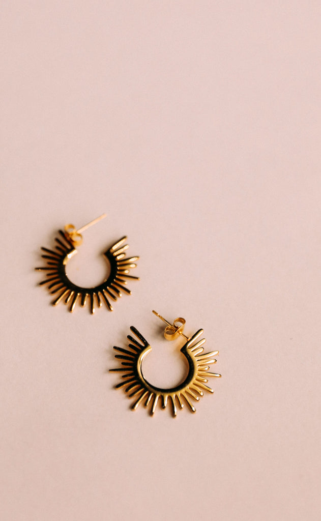 circle spiked earrings