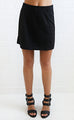 city lights mini skirt - black