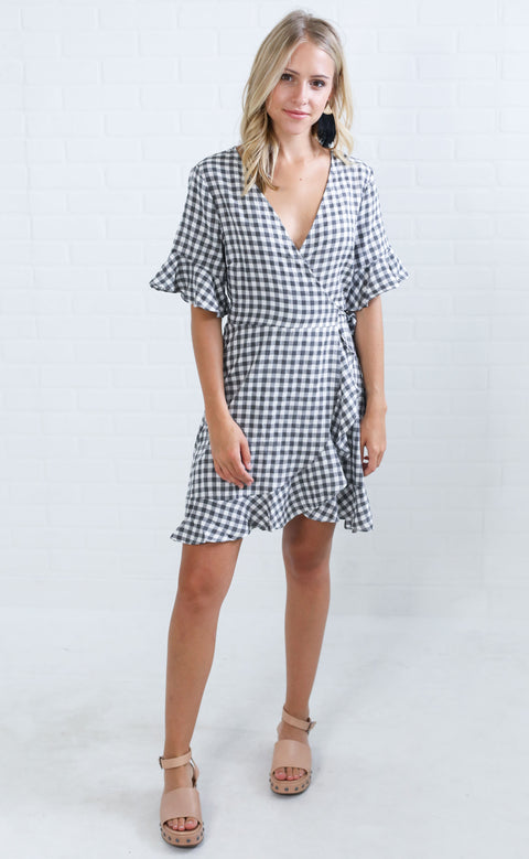 class act gingham dress