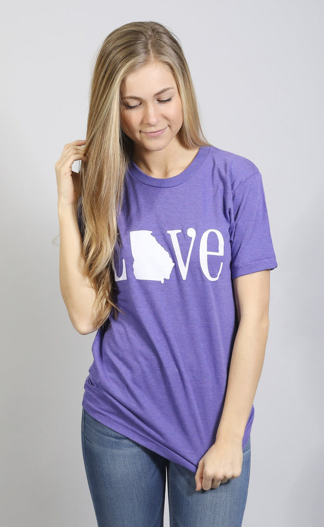 charlie southern: classic state love t shirt - georgia [purple]