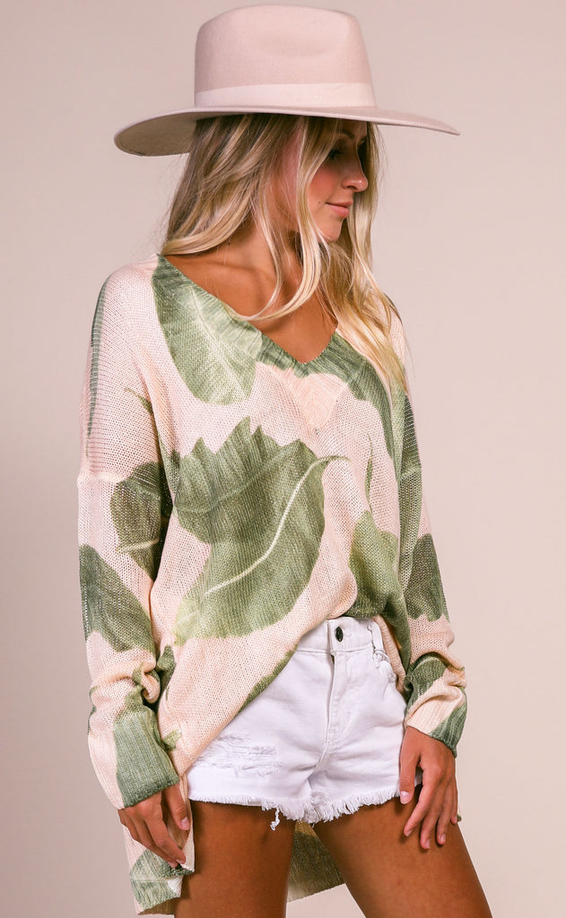 show me your mumu: cliffside sweater - queen palms knit