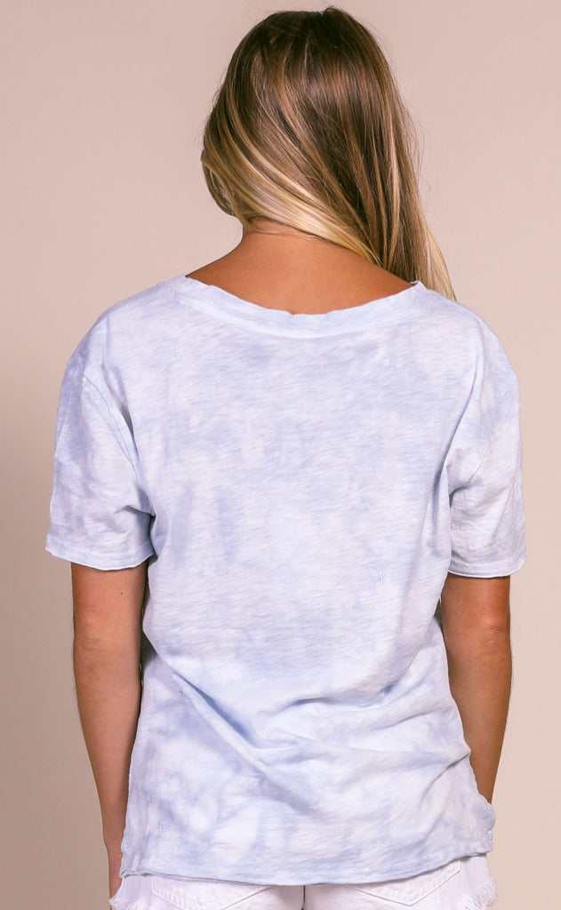 z supply: the cloud tie dye tee - light blue