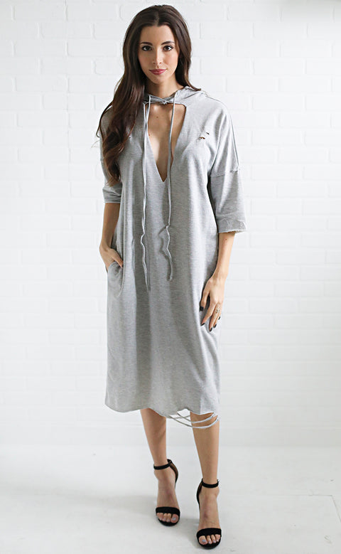 cloudy day sweatshirt dress