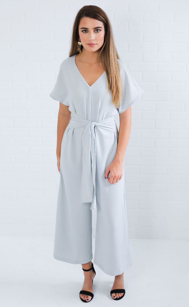 cloudy day textured jumpsuit