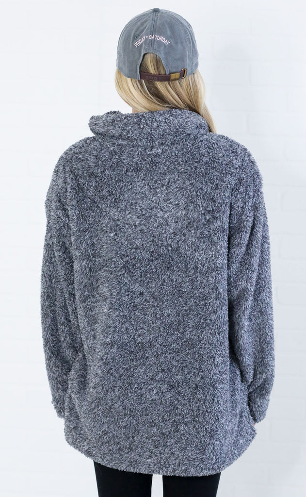 coffee run pullover - charcoal
