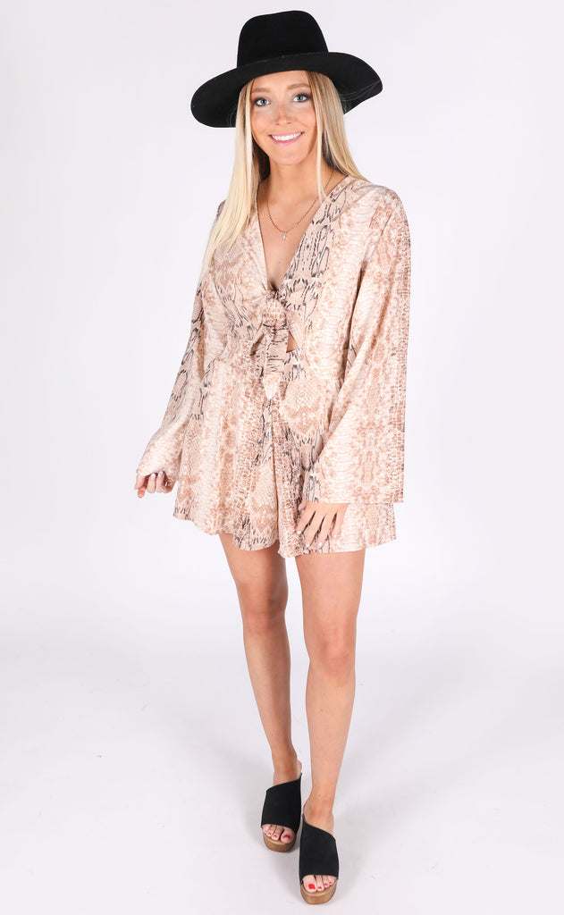cold blooded printed romper