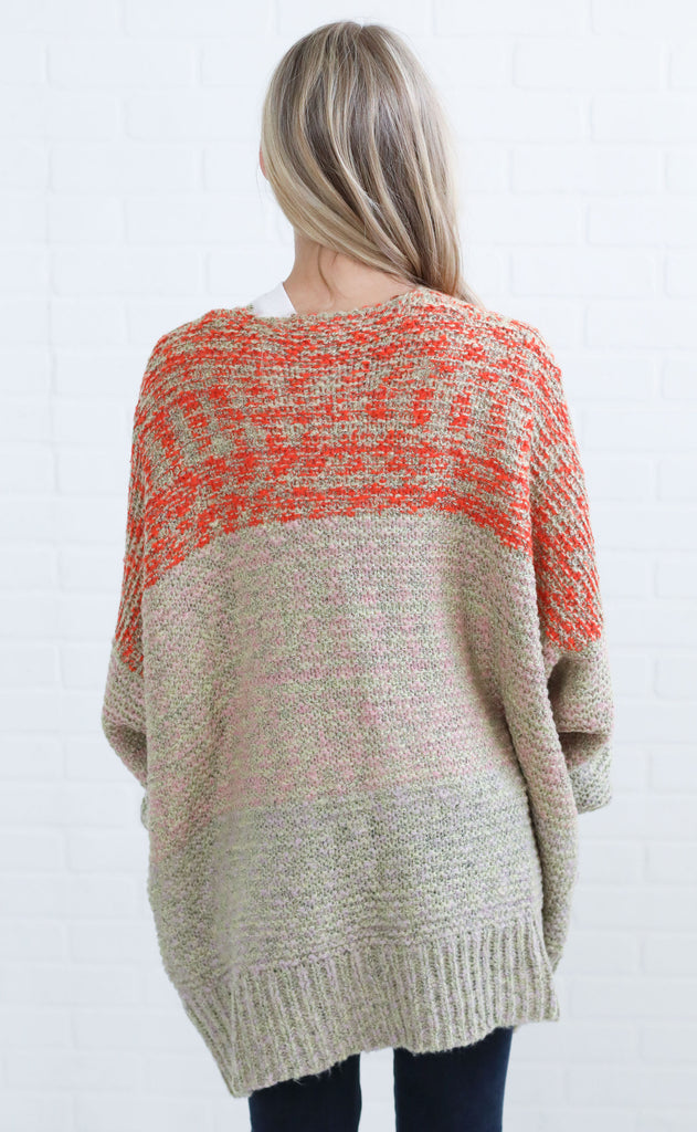 colors of the wind knit cardigan