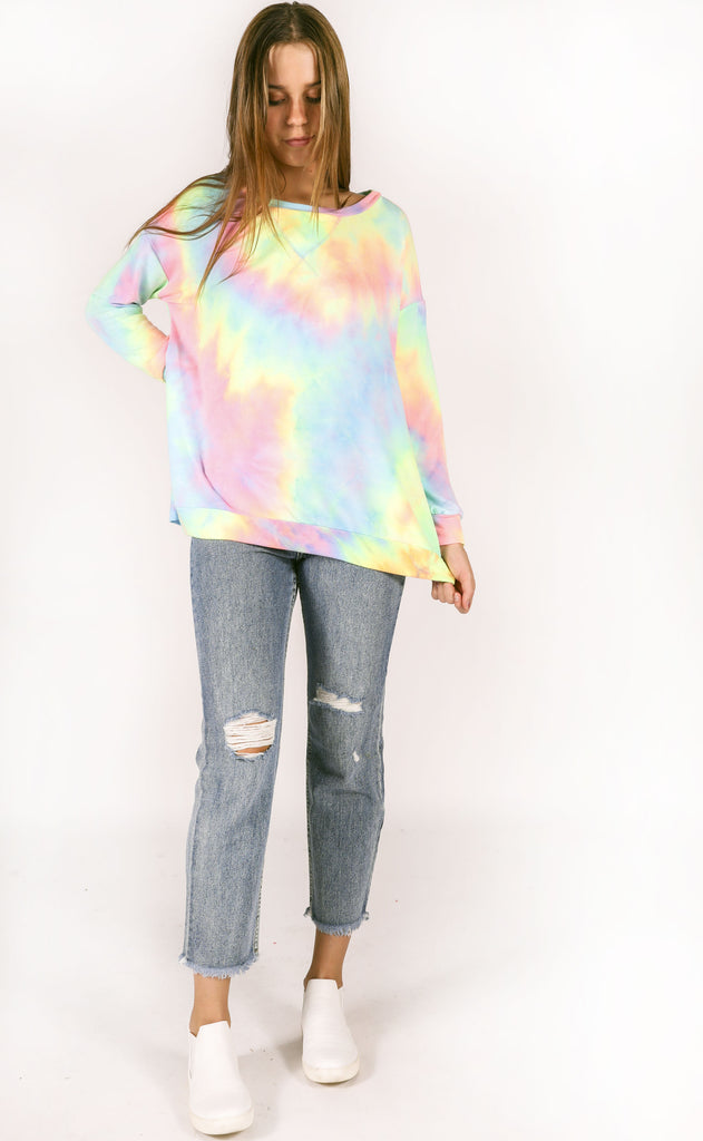 colorway tie dye pullover - pastel