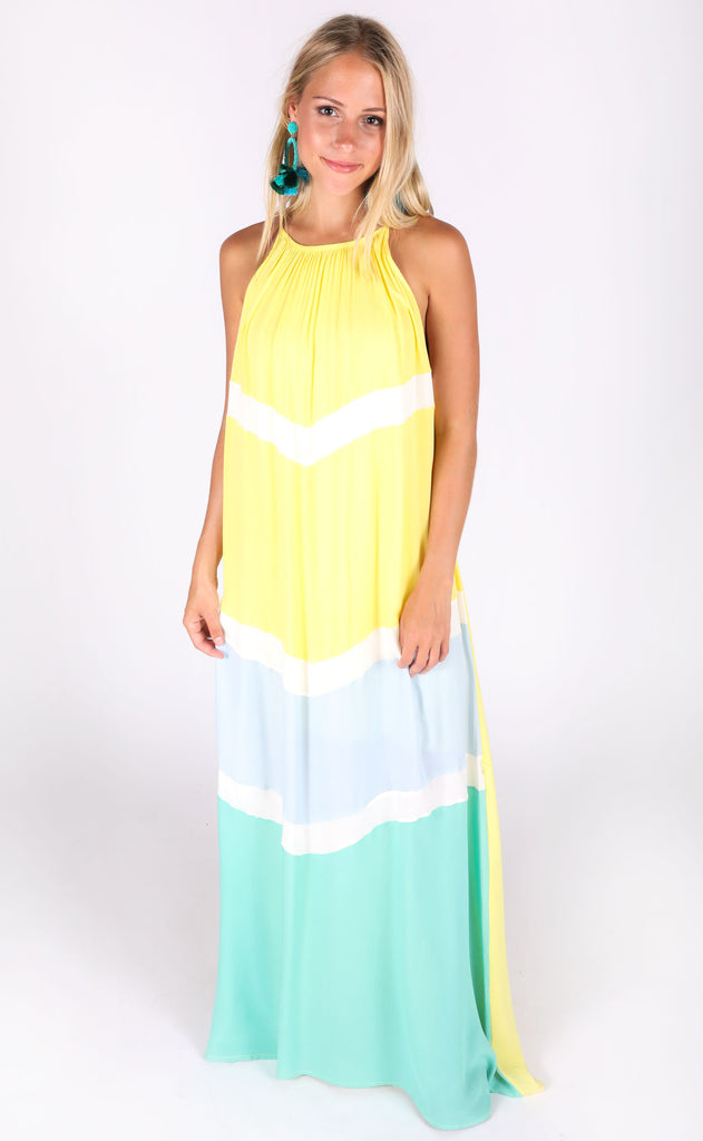 coming in hot colorblocked dress