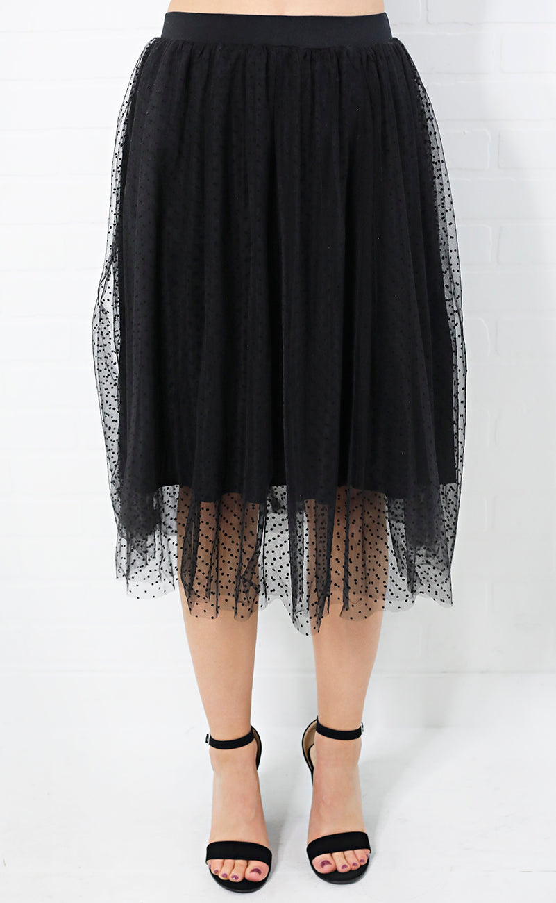 connect the dots midi skirt