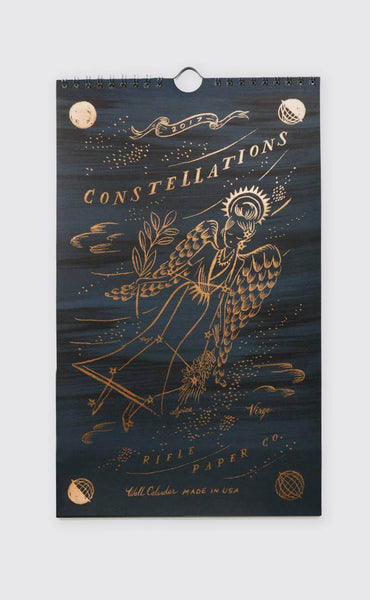 rifle paper co: constellations wall calendar