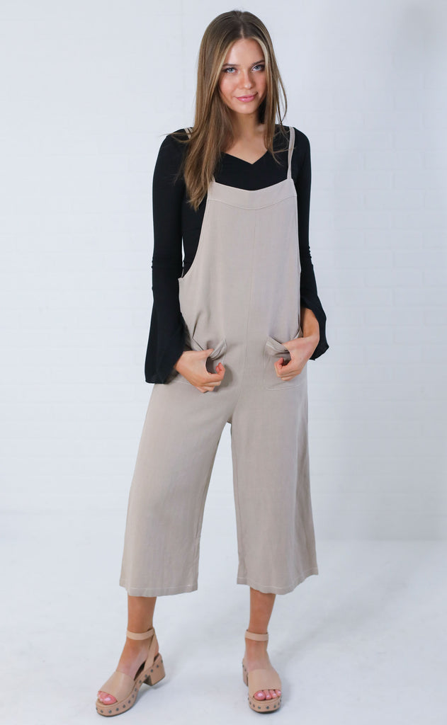 cool and collected woven jumpsuit