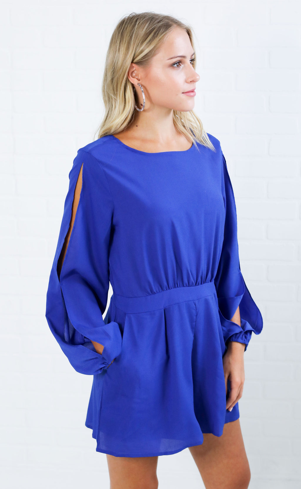 cool down open sleeve romper